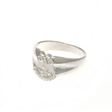 Everton Silver Plated Crest Ring - Small
